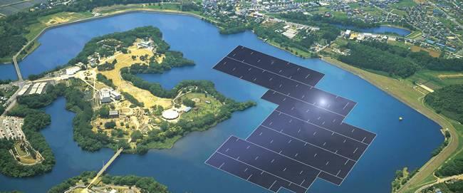 В Японии начали строительство самой большой в мире плавающей солнечной электростанции