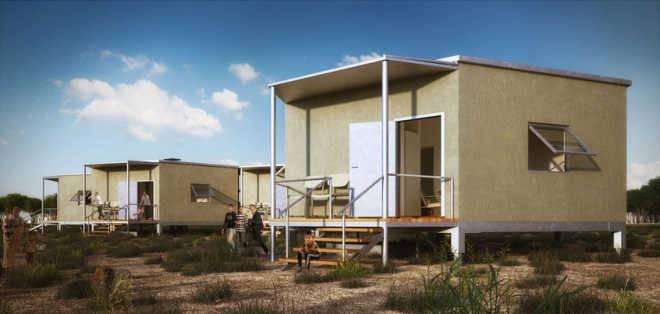Компания Architects for Society спроектировала дом на для районов бедствия