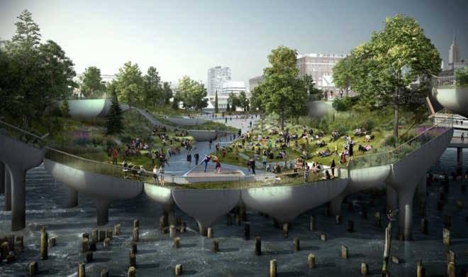 В Нью-Йорке будет построен плавучий парк