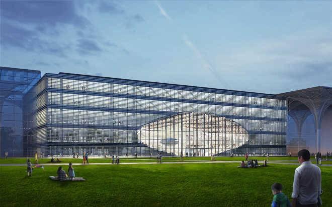Голландская фирма MVRDV строит в Китае библиотеку с зеркальной сферической аудиторией