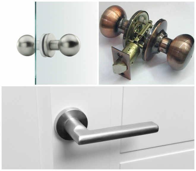 Типы дверных ручек