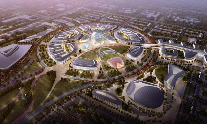 Продолжается строительство городка «Энергия будущего» для Экспо-2017 в Казахстане