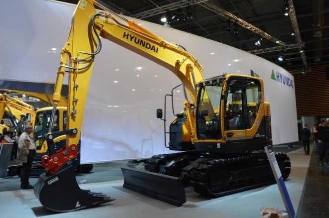 Первый реализованный в Великобритании экскаватор Hyundai R125LCR-9A