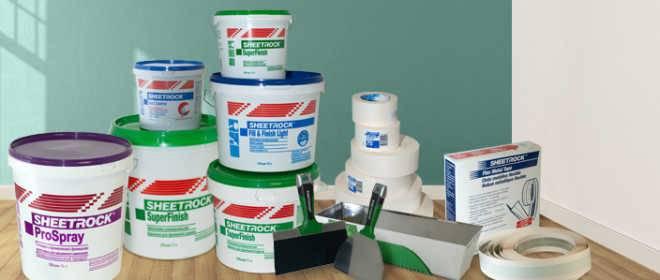 Готовая шпатлевка Sheetrock: характеристика и применение