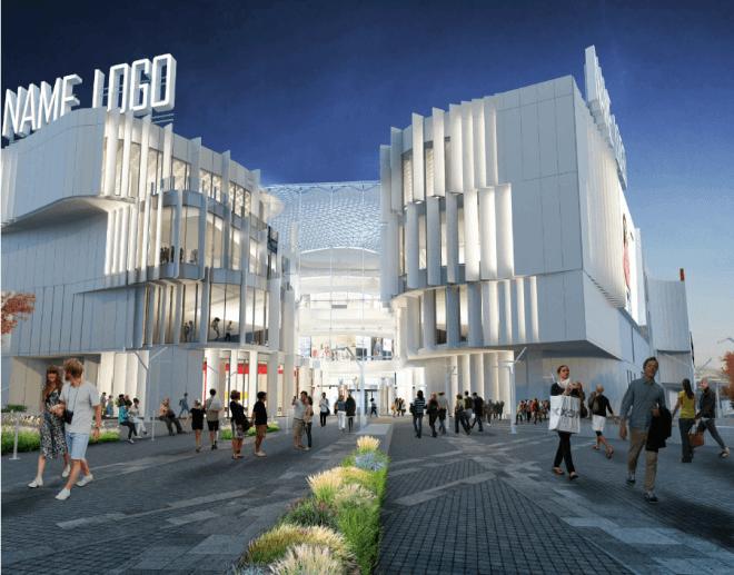 ТРЦ по конкурсному проекту молодых архитекторов достроен у метро «Полежаевская»
