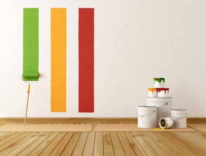 Поэтапная покраска стен