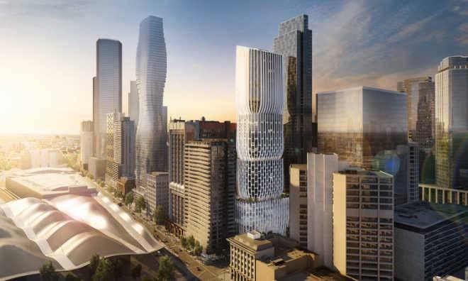 Zaha Hadid Architects проектируют для Мельбурна «башню» высотой 178 метров