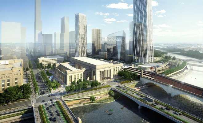 """SOM проектирует новый район, который """"свяжет воедино"""" Филадельфию"""