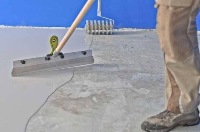 Проведение работ по монтажу наливного пола