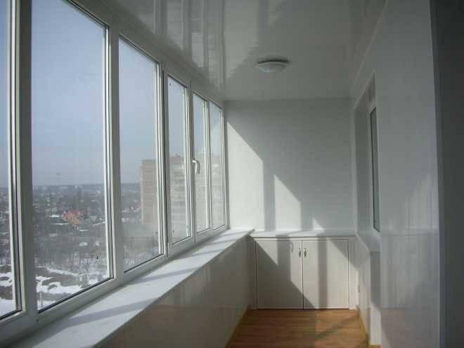 Утепление лоджии и балкона окнами ПВХ в Минске