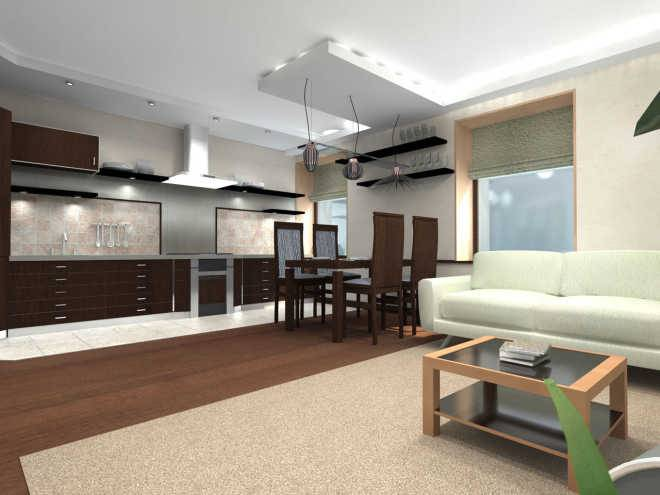 Как выбрать натяжной потолок для комнаты и кухни