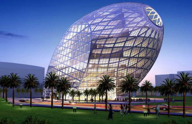 Здание-яйцо CyberTecture Egg (Мумбай, Индия)