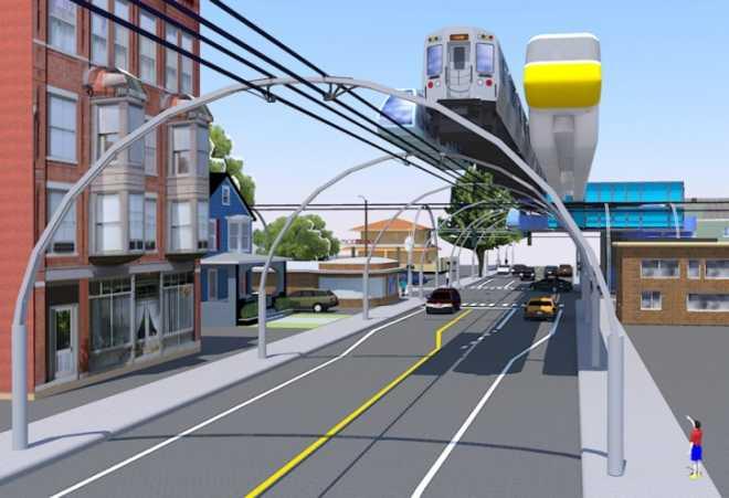 Концепция подвесной рельсовой системы перевозок получает награду от MIT