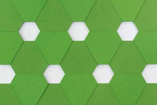 Система из фетровых плиток позволяет создать стильную звукоизоляцию, где она необходима