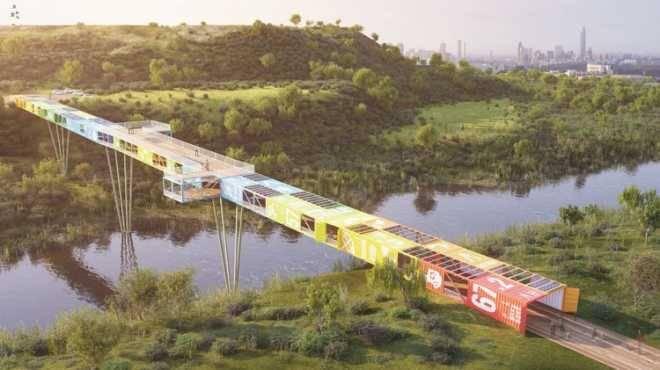 В Израиле планируется построить 160-метровый мост из транспортировочных контейнеров