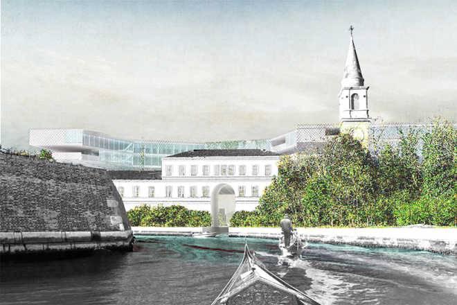 Анонимный коллектив создает образ «парящего» университета на венецианском острове