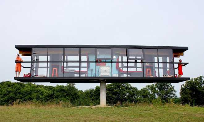 ReActor — вращающийся на одном столбе дом от Alex Schweder + Ward Shelley