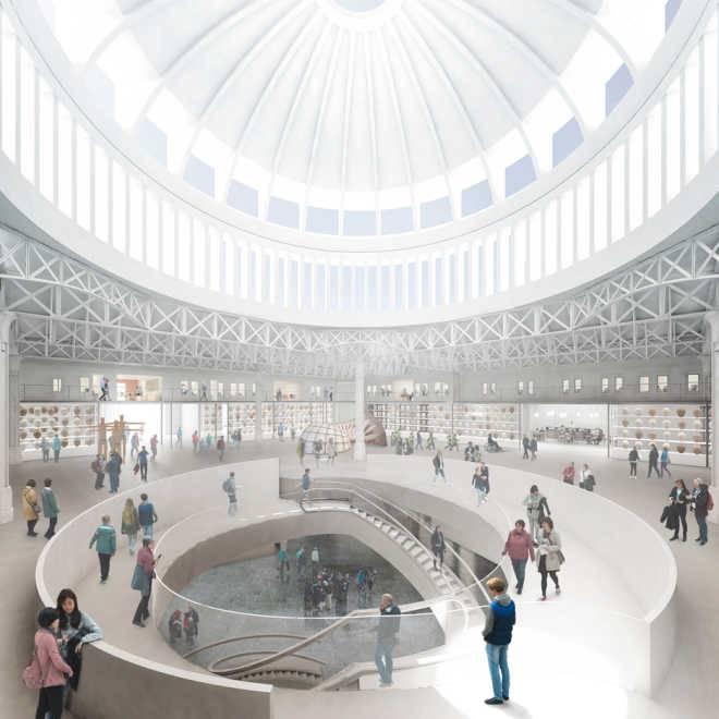 После реконструкции в Музее Лондона появятся спиральные подъемники и красивый купол