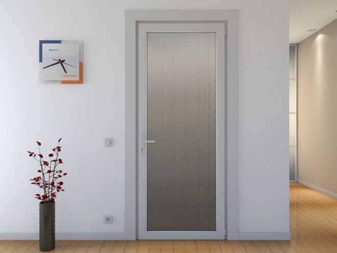 Межкомнатные двери из алюминия и пластик