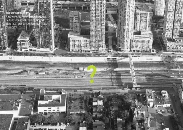 Торонто планирует сделать огромный центральный парк, разместив его поверх железнодорожного коридора