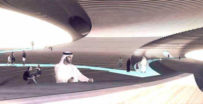 Исследуем гороподобный «Павильон эмпатии», предложенный Hweler + Yoon для Dubai Expo 2020