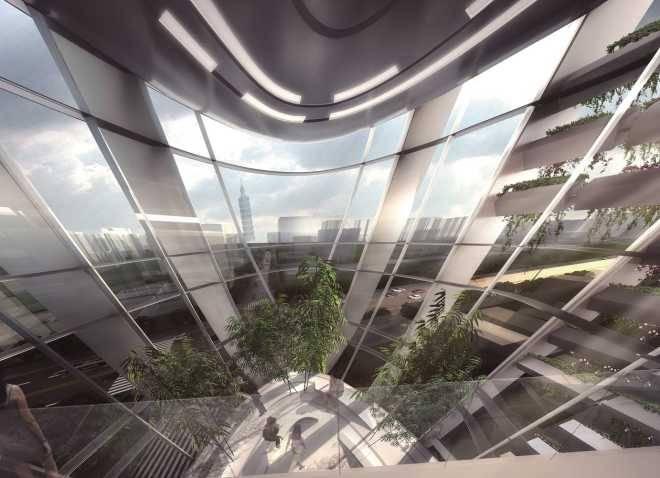 Здание в форме гальки в Тайбее