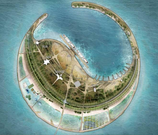 Diller Scofidio + Renfro победили в конкурсе проектов искусственного эко-острова для Китая