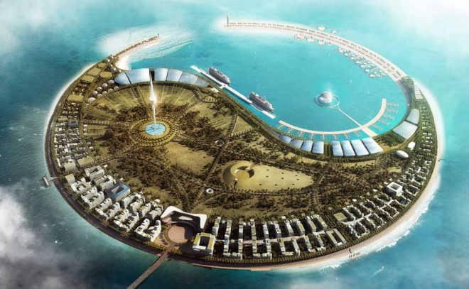 Проектов искусственного эко-острова от Foster Partners