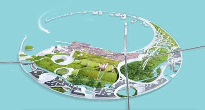 Проектов искусственного эко-острова от Morphosis