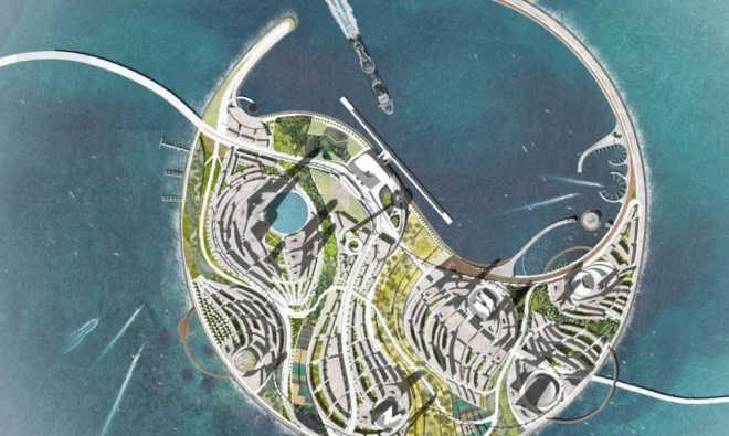 Проектов искусственного эко-острова от UNStudio