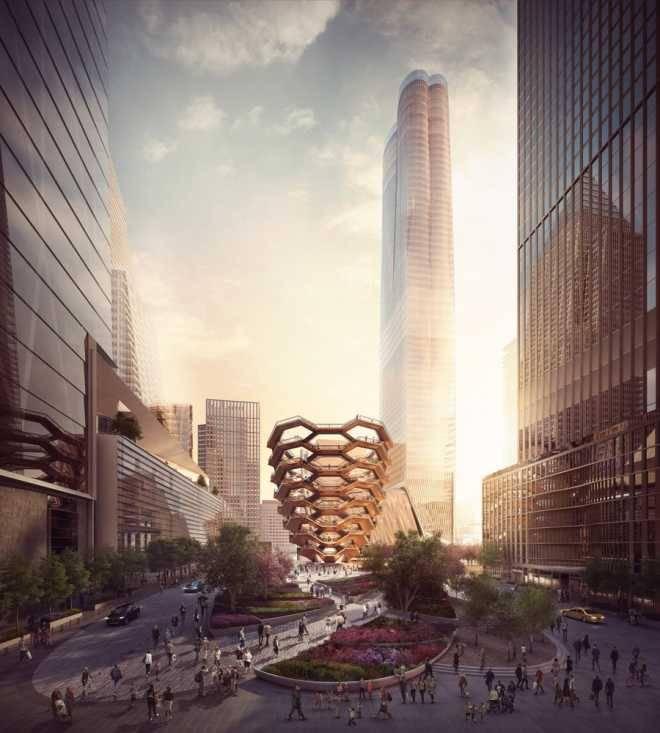 Студия Хезервика построит в Нью-Йорке «Сосуд», образованный бесконечной лестницей