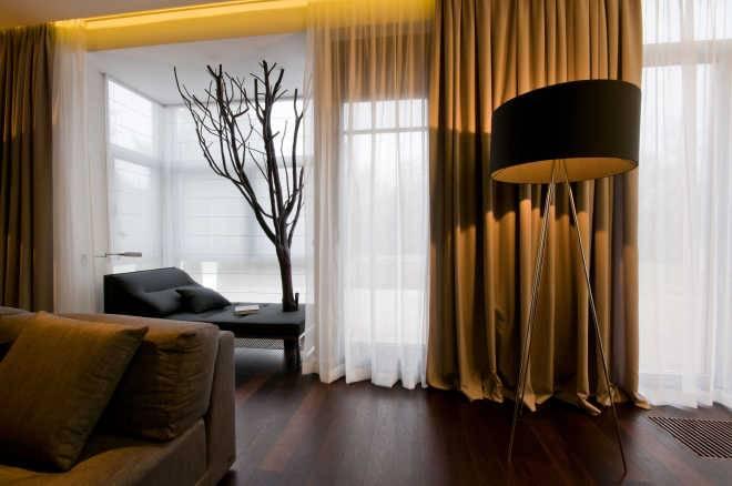 Бежевый цвет в интерьере комнаты