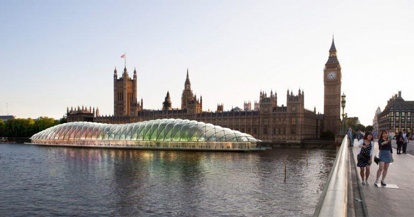 Опубликованы первые эскизы интерьеров плавучего здания Британского парламента
