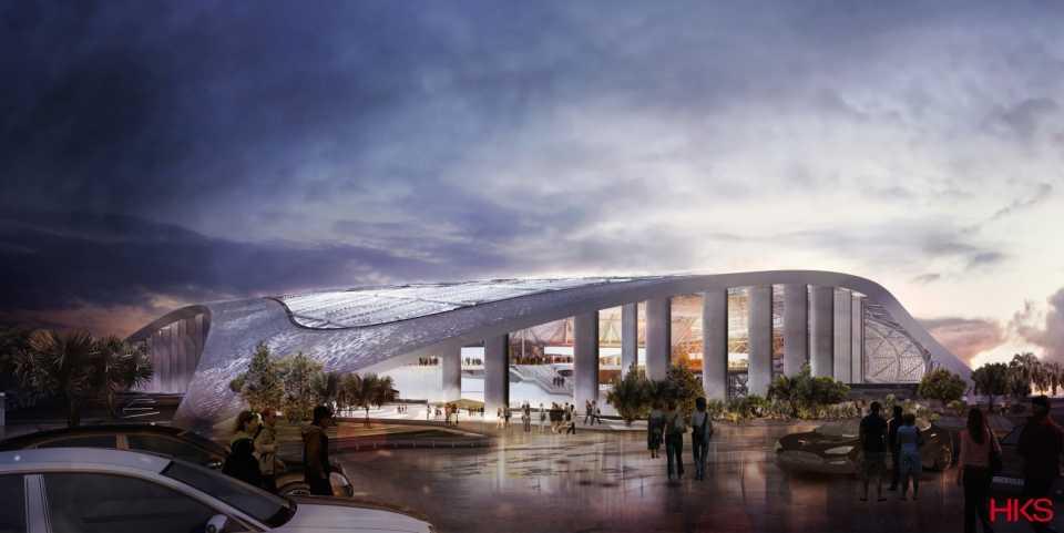 Самый большой стадион НФЛ будет построен в Лос-Анджелесе по проекту HKS