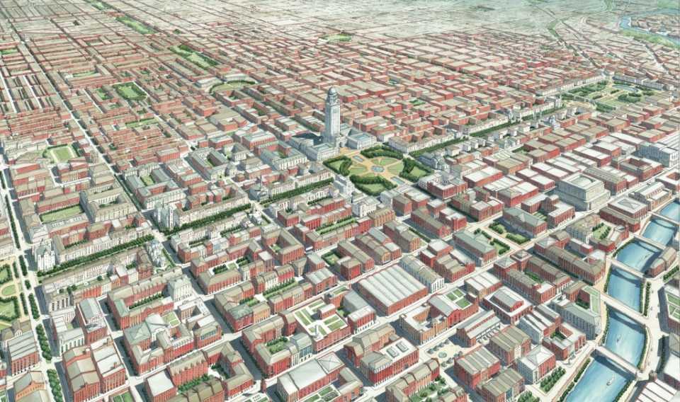 Градостроительство – Генеральный план Чикаго 2109, предложенный университетом Нотр-Дам