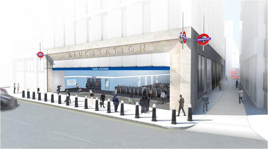 Модернизация станции метро Бэнк (Bank Station)