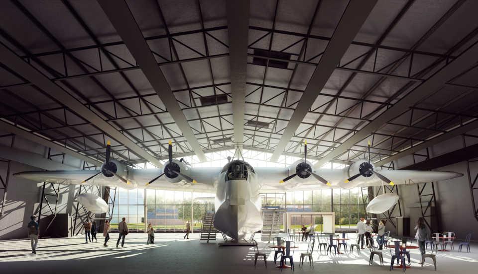 Nex Architecture показали, как будет выглядеть после реконструкции Музей королевских военно-воздушных сил в Лондоне