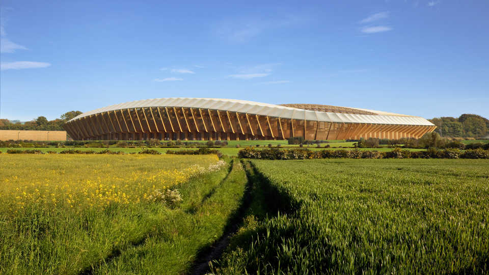 Zaha Hadid Architects проектируют первый в мире деревянный футбольный стадион