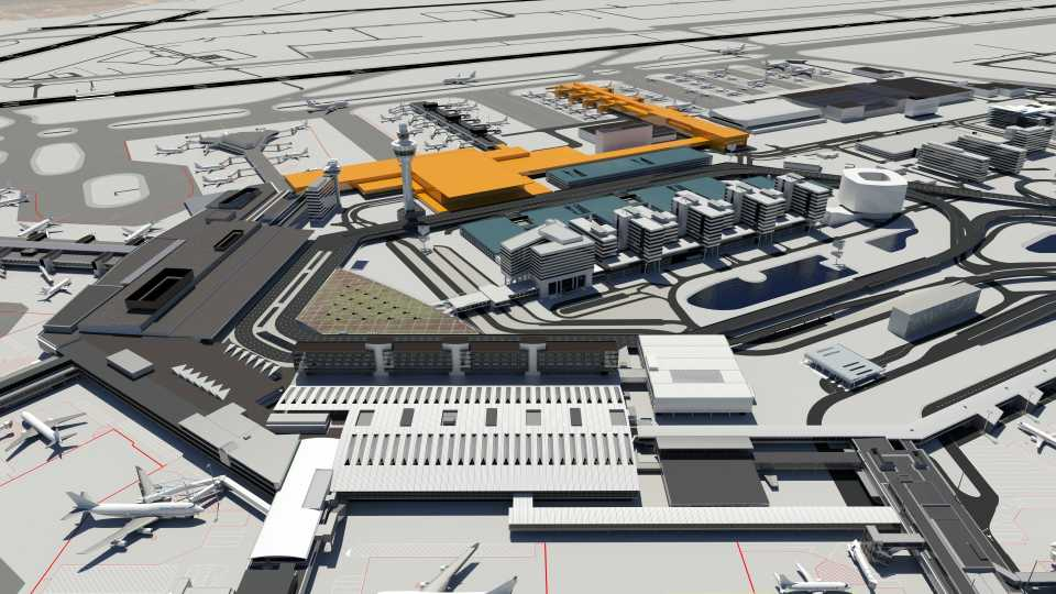 Расширение аэропорта Schiphol поручено Aecom