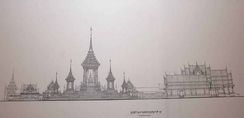 Правительство Таиланда обнародовало дизайн 50-метрового сооружения для королевского кремационного костра