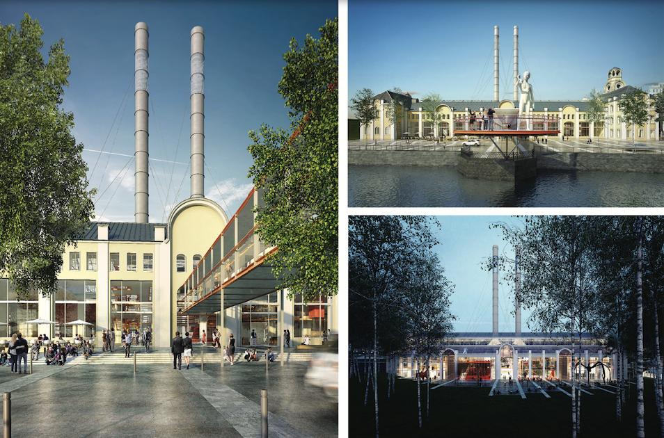 Бюро Renzo Piano представило подробности проекта Музея современного искусства на месте ГЭС-2 в Москве