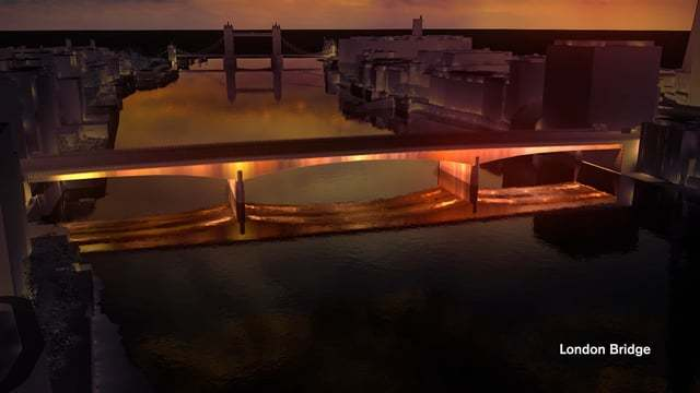 Leo Villareal + Lifschutz Davidson Sandilands одержали победу в лондонском конкурсе проектов архитектурно-художественного освещения реки