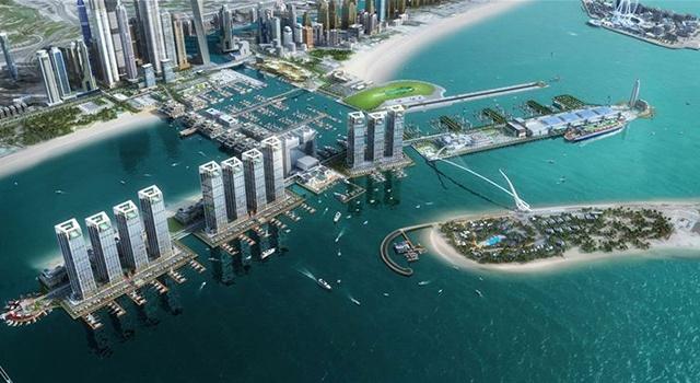 Будущий комплекс Dubai Harbour привлечет в Дубай самые большие яхты мира