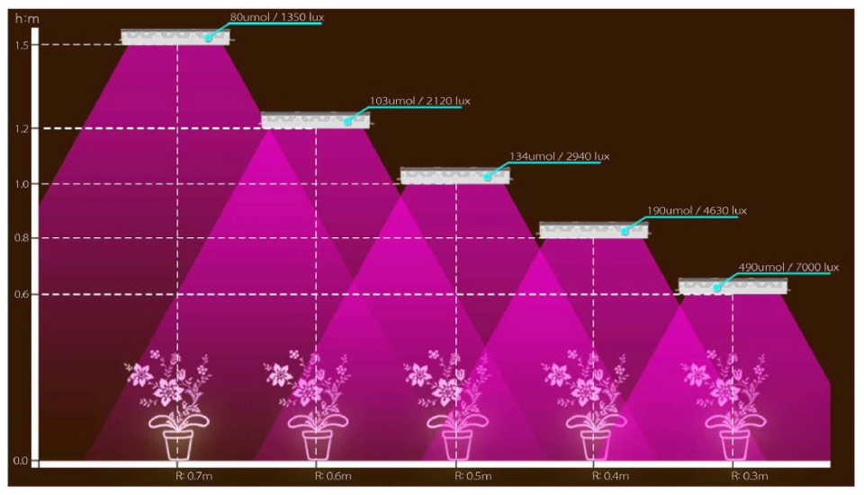 Ключевые характеристики приборов освещения растений