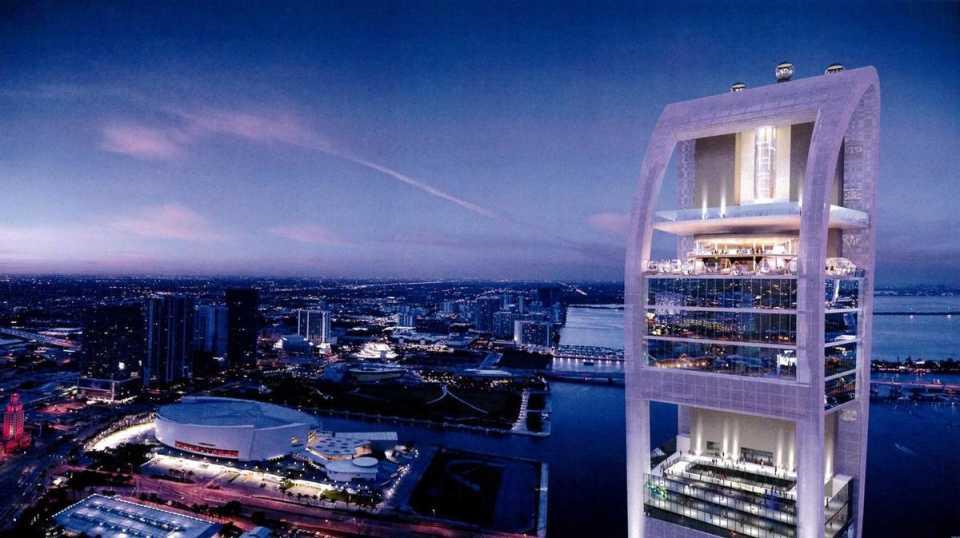 Вращающиеся смотровые капсулы комплекса SkyRise в Майями будут подниматься на 300 метров над землей