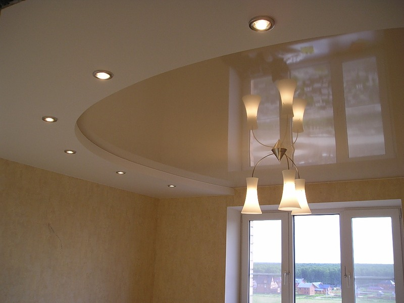 Установка дополнительных светильников в натяжной потолок