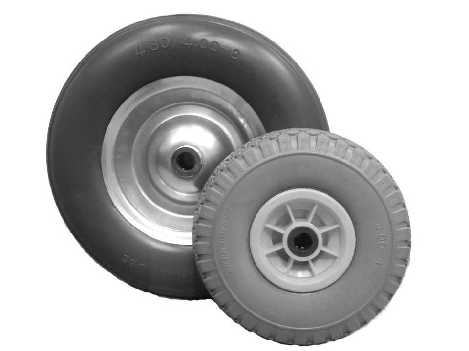 Пневматические колеса для тележек