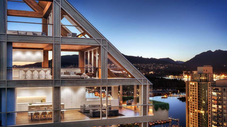 Самые дорогие ванкуверские апартаменты будут располагаться в высоком деревянном гибридном доме