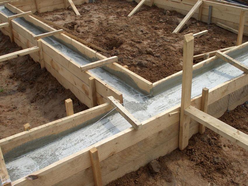 Подготовка фундамента для частного дома