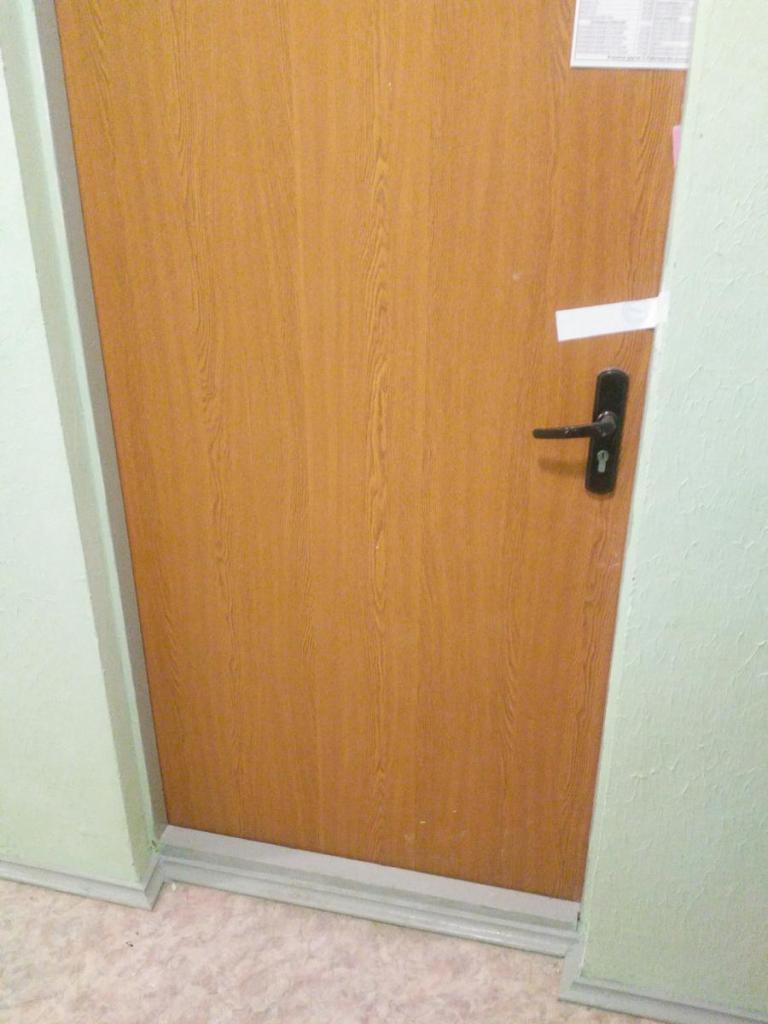 Деревянная входная дверь в квартиру